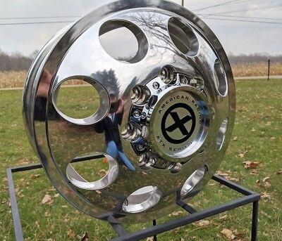 "4)  16""X6""  8 LUG (ALCOA STYLE) CHEVY GM 3500 CUBE VAN MOTORHOME  DUALLY GMC"