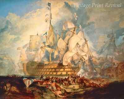 Battle of Trafalgar by J M W Turner - Sail Ship Nelson Victory 8x10 Print 1214