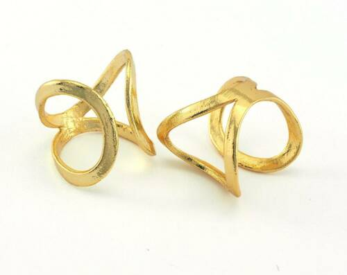 Adjustable Ring Gold Plated brass (16.5mm 6US inner size) 3377