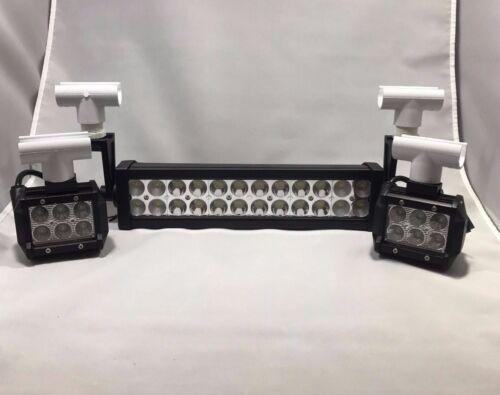 Flounder Gigging Light Set Snap PVC Head LED 18/72 W 5280 LM 12 Volt