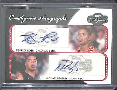 2008-09 Topps Co-Signers Basketball Dual Autograph Derrick