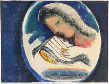 Charles Blackman-‐ The Singer-‐ Orpheus Series 1998 Collograph Scotland Island Pittwater Area Preview