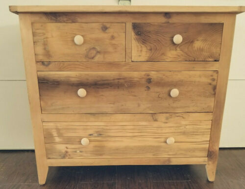 Amish Made Reclaimed Barnwood 4 Drawer Dresser, Chest Of Drawers, Barn Wood