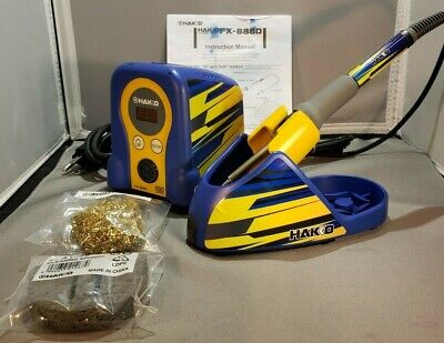 Hakko Fx888d Digital Soldering Station W Graphic Decal Kit Authentic Version