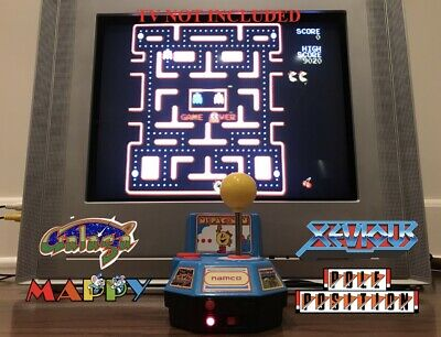 VINTAGE | Ms. PAC-MAN Plug And Play Arcade Console | 5 BUILT IN GAMES!