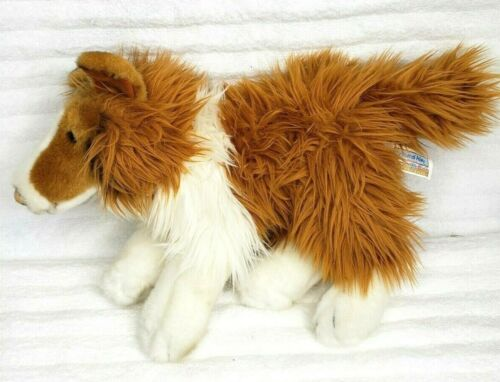 """Animal Alley 16"""" Collie Brown Lassie Dog Realistic Stuffed Plush Puppy Toys R Us"""
