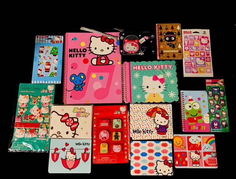 Sanrio Hello Kitty Spiral Notebooks, Stickers, Notecards, Erasers, Wristlet Lot