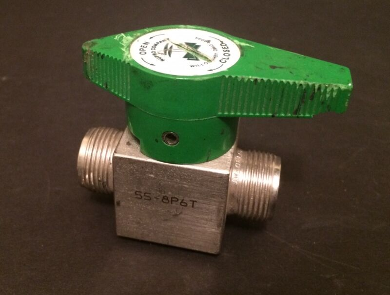 "Nupro 1/2"" Stainless Steel Quarter-Turn instrument Plug Valve # SS-8P6T"