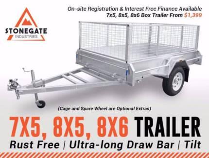 7x5 | 8x5 | 8x6 Box Trailer From $1,399 | Heavy Duty | ATM 750KG