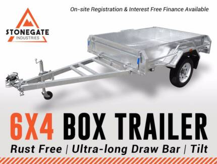 6x4 Box Trailer (Fully Welded) | 750KG ATM | Hot Dipped Gal