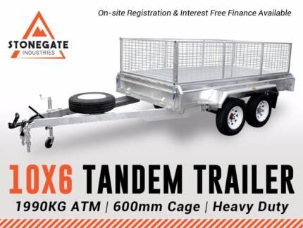 10x6 Tandem Trailer 300mm High Sides | Brisbane Qld