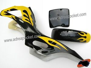 car nage noir jaune pocket bike cross 47 49cc ebay. Black Bedroom Furniture Sets. Home Design Ideas