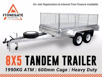 Best Deal 8x5 Tandem Trailer with 600mm High Cage | 1990 KG ATM