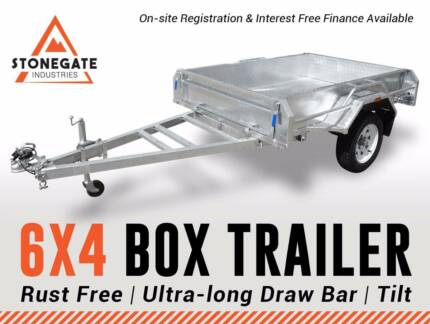 6mth Interest Free* 6x4 HD Fully Welded HotDippedGalv Box Trailer