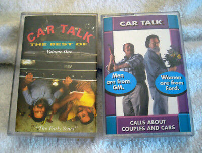 2 Car talk Cassette Tapes Best of Volume 1 & Calls About Couples &