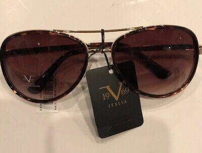 New Versace 19V69 Women's Aviator Sunglasses BELLA Pilot Eyewear Gold Tortoise