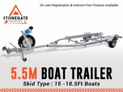 5.5m Boat Trailer Skid Type 15-18.5Ft 6month INTEREST FREE*