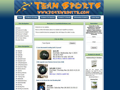 Basketball Baseball Football Store Website Ebayamazongoogleclickbankdropship