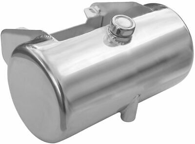 Ultima Chrome Round Center Fill Custom Oil Tank Battery Tray Box Harley Softail