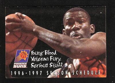 Michael Finley  1996 97 Phoenix Suns Pocket Schedule  Dollar Rent A Car