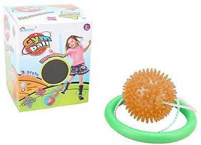 Girls ORANGE Flashing LED Lights Skip Ball Jumping Skipping Rope Toy Game