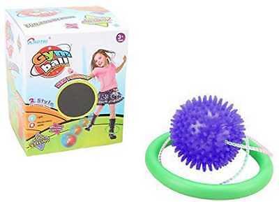 PURPLE Flashing LED Lights Ankle Leg Skip Ball Jumping Skipping Rope Toy Game