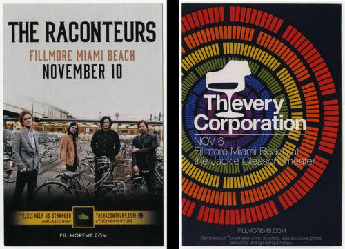 THIEVERY CORPORATION * THE RACONTEURS Original 2019 Concert Handbill