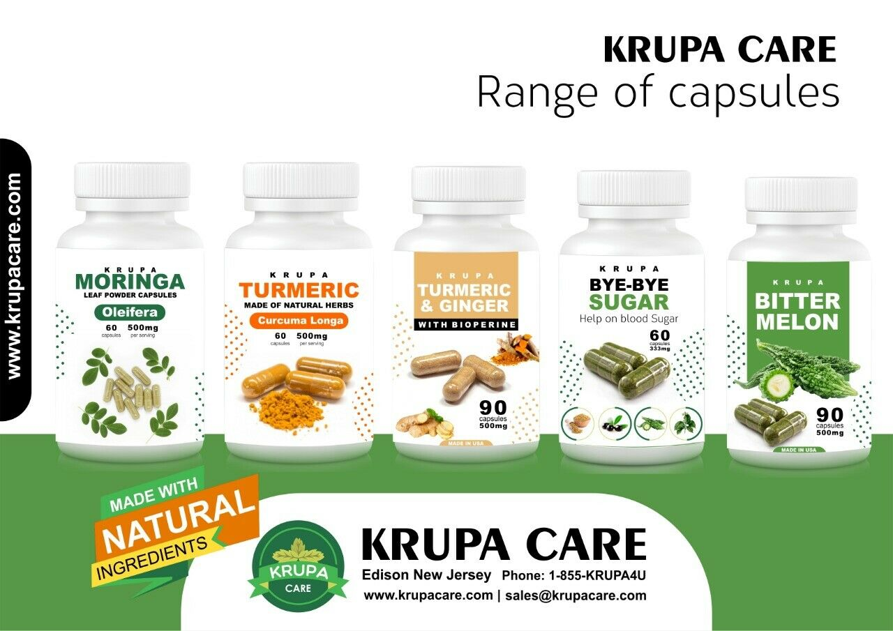 Krupacare Bee Pollen capsual500mg,Weight Loss,B-complex,Vit A,C,E.Made in USA 90 6