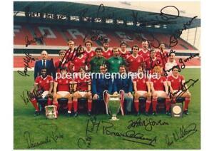 NOTTINGHAM FOREST FC 1980 EUROPEAN CUP SQUAD BRIAN CLOUGH SIGNED REPRINT x 21