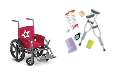 American Girl Berry Wheel Chair and Feel Better Kit  for