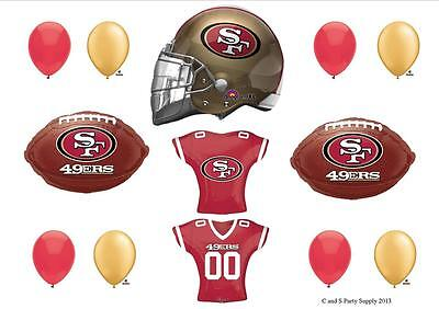 SAN FRANCISCO 49ERS FOOTBALL PARTY BALLOONS Decorations Supplies Super Bowl ()