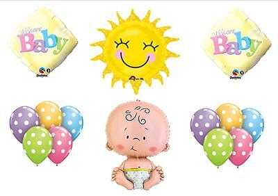 You Are My Sunshine Baby shower Balloons Decorations Supplies Welcome Polka Dots (You Are My Sunshine Baby Shower Decorations)