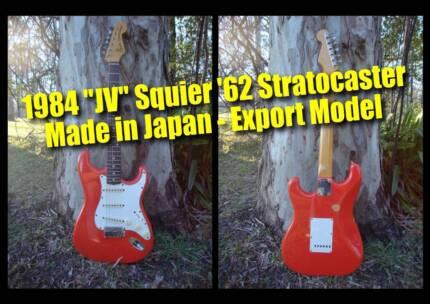 Fender Stratocaster JV Squier '62 (fiesta red) - Made in Japan