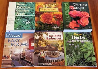 Sunset Western Garden Book Lot Annual Barbecues Baby Room Herbs 1978 92 93 01 02