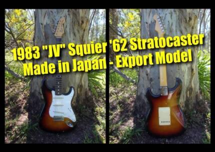 Fender Stratocaster JV Squier '62 (3 tone sunburst) - Japan made