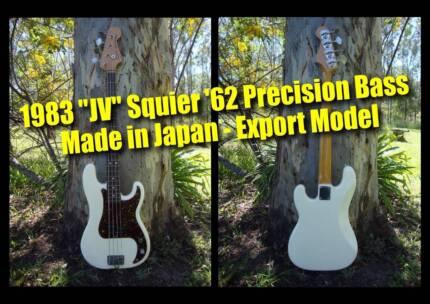 Fender Precision Bass JV Squier '62 (white) - MIJ - Export model