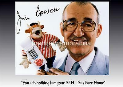 BULLSEYE CLASSIC TV SHOW HOST JIM BOWEN SIGNED (PRINTED) EXCLUSIVE A4 PRINT
