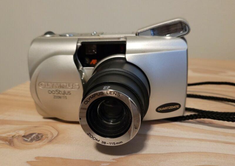 Olympus Infinity Stylus Zoom 115 Point Shoot Film Camera 35mm