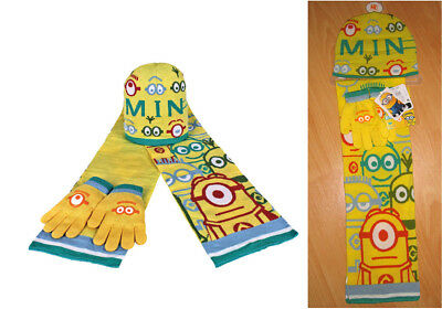 Minions / Despicable Me Matching Yellow Hat Scarf - Despicable Me Hat