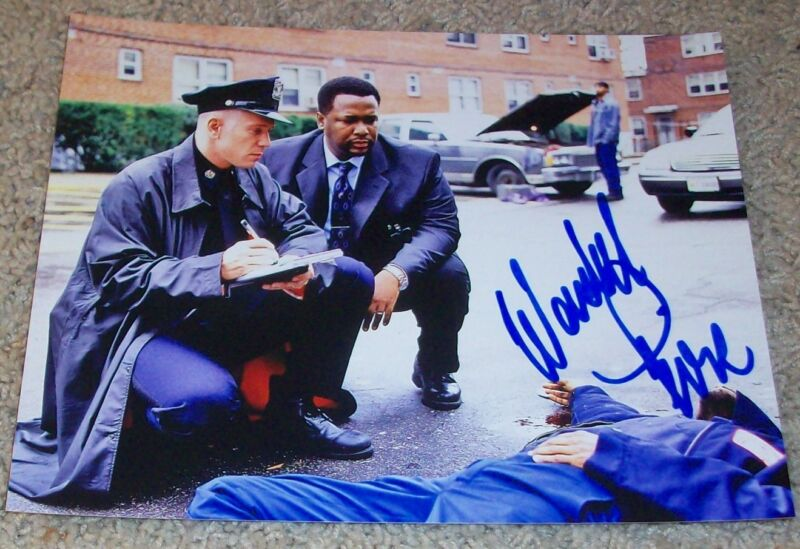 WENDELL PIERCE SIGNED AUTOGRAPH BUNK THE WIRE 8x10 PHOTO E w/PROOF