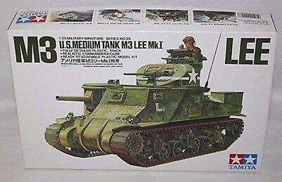 TAMIYA M3 LEE U.S MEDIUM TANK M3 MK I 1/35 SCALE PLASTIC MODEL KIT for sale  Staten Island
