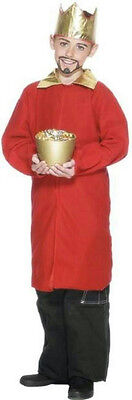 Smiffy's Red Nativity King Wiseman Child Christmas Costume Cape Crown Size - Childrens King Costume Nativity