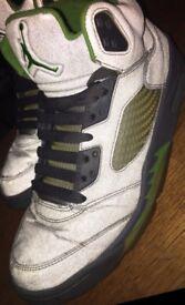 Nike Air Jordan Retro 5 3M 'Green Bean' UK8.5 rare
