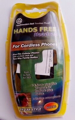 Southwestern Bell Freedom Phone Hands Free Headset 4 cordless & cellular phones