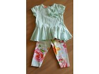 Girls Ted baker outfit 6-9 months