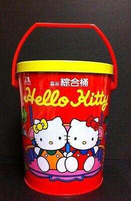 RARE VTG 1995 Hello Kitty Sanrio Large Handled Red Tin Bucket W/Lid Easter