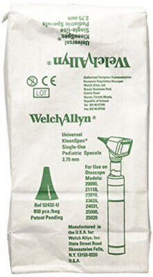 Welch Allyn Ear Speculum Universal Plastic Black 2.75 Mm Disposable 524 Series