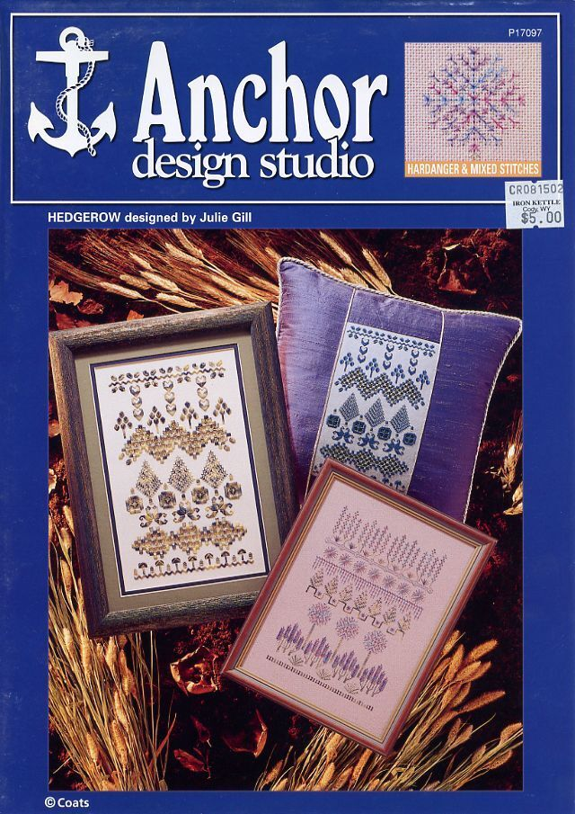 Hedgerow Samplers Coats /& Clark Hardanger Pattern Leaflet NEW