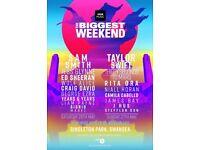 Swansea's biggest weekend Ed Sheeran Craig David radio 1 Singleton Park