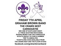 Tickets for Graham Brown Band Charity Fundraiser Gig Friday 7th April